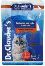 Dr Clauder Паучи Кролик и печень / Консервы Доктор Клаудер для кошек (цена за упаковку)