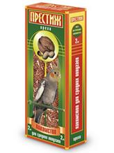 """Престиж / Лакомство """"Жесткие Палочки"""" для Средних попугаев с Орехами"""