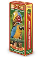 """Престиж / Лакомство """"Жесткие Палочки"""" для Крупных попугаев с Овощами Фруктами и Орехами"""