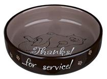 Trixie Thanks for Service / Миска Трикси для кошек Коротконосых пород Керамическая