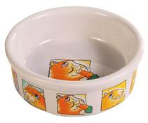 Trixie / Миска Трикси для морской свинки Керамическая с рисунком