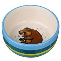 Trixie / Миска Трикси для морской свинки Керамическая  Разноцветно-кремовая