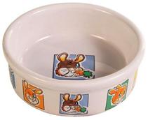 Trixie / Миска Трикси для кролика Керамическая с рисунком