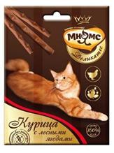 Мнямс Деликатес Лакомство для кошек Лакомые палочки 9 см Курица с лесными ягодами