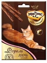 Мнямс Деликатес Лакомство для кошек Лакомые палочки 9 см Форель