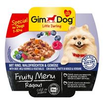 Заказать Gimdog Fruity Menu Ragout Beef Wild Berries & Vegetables / Консервы для собак весом до 10 кг Рагу Говядина Дикие Ягоды и Овощи Цена за упаковку по цене 580 руб