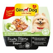 Заказать Gimdog Fruity Menu Ragout Turkey Apple & Vegetables / Консервы для собак весом до 10 кг Рагу Индейка Яблоко и Овощи Цена за упаковку по цене 580 руб