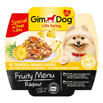 Заказать Gimdog Fruity Menu Ragout Tuna Pineapple & Vegetables / Консервы для собак весом до 10 кг Рагу Тунец Ананас и Овощи Цена за упаковку по цене 580 руб