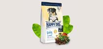 Заказать Happy Dog Baby Grainfree / Сухой Беззерновой корм для Щенков Средних и Крупных пород с 1 по 6 месяц Чувствительное пищеварение по цене 470 руб