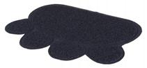 "Trixie / Коврик Трикси для кошачьего туалета в форме ""Лапы"" Темно-синий ПВХ"