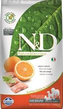 Заказать Farmina N&D GF Adult Medium Fish & Orange / Беззерновой корм для собак Рыба и Апельсин по цене 800 руб