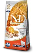 Заказать Farmina N&D LG Adult Maxi Codfish & Orange / Сухой корм Низкозерновой для собак Крупных пород Треска и Апельсин по цене 5210 руб