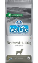 Farmina Vet Life Neutered 1-10kg / Лечебный корм Фармина для кастрированных или стерилизованных собак массой до 10 кг, профилактика МКБ