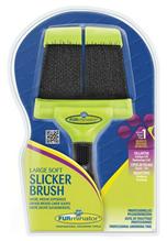 Заказать FURminator Large Soft Slicker Brush / Фурминатор Сликер Двухсторонний Мягкий Большой зубцы 15мм по цене 1060 руб