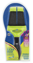 FURminator Small Soft Slicker Brush / Фурминатор Сликер Двухсторонний Мягкий Маленький зубцы 15мм