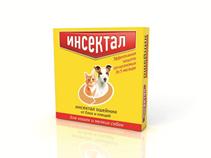 Инсектал / Ошейник от Блох и Клещей Золотой для кошек и Мелких собак