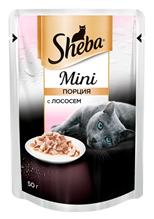 Sheba Mini / Паучи Шеба Мини порция для кошек с Лососем (цена за упаковку)