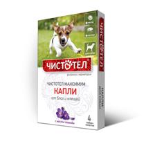 Чистотел Максимум / Капли для собак от Блох и Клещей