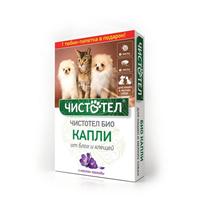 Чистотел Био / Капли для кошек и Мелких собак от Блох и Клещей Лаванда