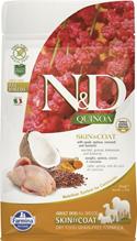 Farmina N&D Quinoa Line Skin & Coat Quail Grain free / Сухой Беззерновой корм Фармина для взрослых собак Здоровье Кожи и Шерсти Перепел с Киноа