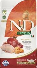 Farmina N&D Pumpkin Line Adult Neutered Pumpkin Quail Grain free / Сухой Беззерновой корм Фармина для Стерилизованных кошек и Кастрированных котов Перепел с Тыквой