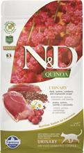 Farmina N&D Quinoa Line Urinary Adult Quinoa Duck Grain free / Сухой Беззерновой корм Фармина для взрослых кошек Профилактика МКБ Утка с Киноа