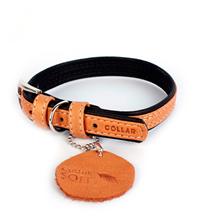 CoLLaR Soft / Ошейник Колар для собак Кожаный Двойной Прошитый Коричневый верх Черный низ