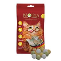 Заказать Molina Mix / Лакомство для кошек Лакомство Дичь Маскарпоне Травка по цене 80 руб