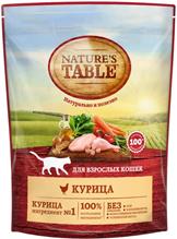 Natures Table / Сухой корм Нейчерс Тейбл для взрослых кошек Курица
