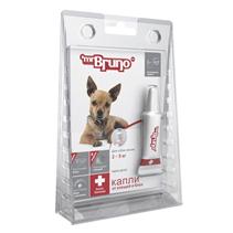 Заказать mr Bruno Plus / Капли Плюс От Клещей и Блох для собак весом 2-5 кг по цене 190 руб