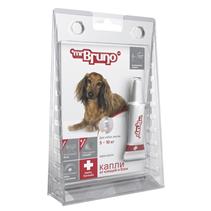 Заказать mr Bruno Plus / Капли Плюс От Клещей и Блох для собак весом 5-10 кг по цене 210 руб