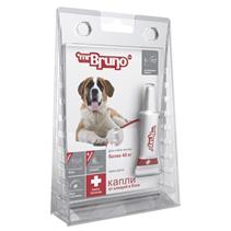 Заказать mr Bruno Plus / Капли Плюс От Клещей и Блох для собак весом более 40 кг по цене 240 руб