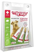 mr Bruno / Капли Мистер Бруно для Средних собак весом 10-30 кг Репеллентные 2,5 мл
