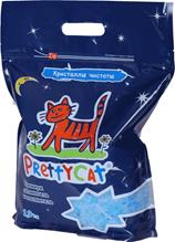 PrettyCat / Наполнитель премиум для кошачьего туалета ПриттиКэт Кристаллы Чистоты Силикагелевый