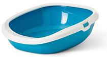 Savic Gizmo / Туалет-лоток Савик для кошек со съемным Бортом Голубой