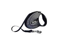 Flexi Glam Splash Mystiс М / Флекси рулетка с Синими кристаллами Swarovski для собак весом до 25 кг Лента 5 м