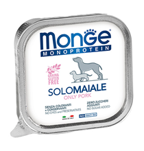 Monge Dog Monoprotein Solo Pork / Влажный корм Паштет Монж Монопротеиновый для взрослых собак Свинина (цена за упаковку)