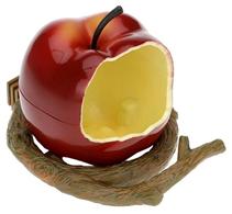 Penn Plax / Кормушка Пен Плакс для птиц Внутренняя Пластиковая Яблоко