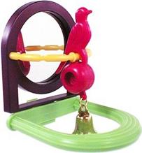 Penn Plax / Игрушка Пен Плакс для птиц Зеркало с Птичкой и колокольчиком