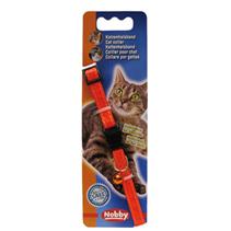 Nobby / Ошейник Ноби для кошек Неон Светоотражающий с безопасным замком и бубенчиком