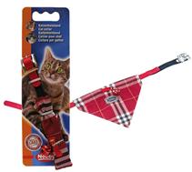 Заказать Nobby / Ошейник для кошек Галстук Нейлоновый с оригинальным галстуком из хлопка, безопасным замком и бубенчиком по цене 230 руб