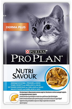 Purina Pro Plan Cat Nutri Savour Derma plus / Паучи Пурина Про План для взрослых кошек Треска в соусе (цена за упаковку)