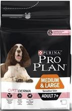 Purina Pro Plan Medium & Large Adult 7+ Sensitive Skin / Сухой корм Пурина Про План для пожилых собак с чувствительной кожей Лосось и рис