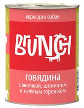 Заказать Brunch / Консервы для собак Говядина с овсянкой шпинатом и зеленым горошком Цена за упаковку по цене 1070 руб
