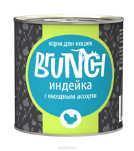 Заказать Brunch / Консервы для кошек Индейка с овощным ассорти Цена за упаковку по цене 830 руб