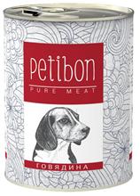 Заказать Petibon 100% Meat / Консервы Петибон для собак Говядина в желе Цена за упаковку по цене 1390 руб