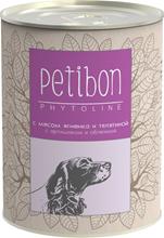 Заказать Petibon Phytoline / Консервы Петибон для собак с мясом Ягненка и телятиной Цена за упаковку по цене 1380 руб