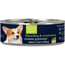 Заказать Petibon Smart / Консервы для собак Рубленое мясо Индейка Телятина Цена за упаковку по цене 1010 руб
