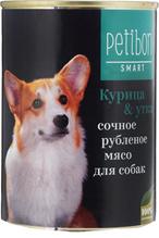 Заказать Petibon Smart / Консервы для собак Рубленое мясо Курица Утка Цена за упаковку по цене 1040 руб