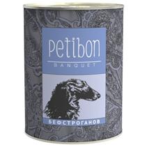 Заказать Petibon Banquet / Консервированное лакомство Петибон для щенков и собак Бефстроганов Цена за упаковку по цене 2220 руб